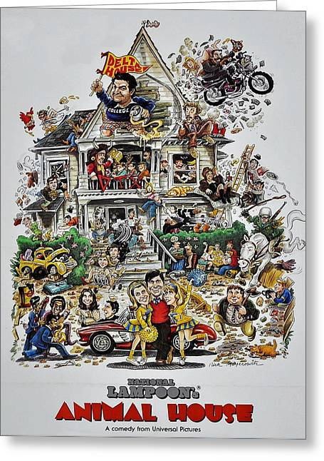 Motion Pictures Greeting Cards - Animal House  Greeting Card by Movie Poster Prints