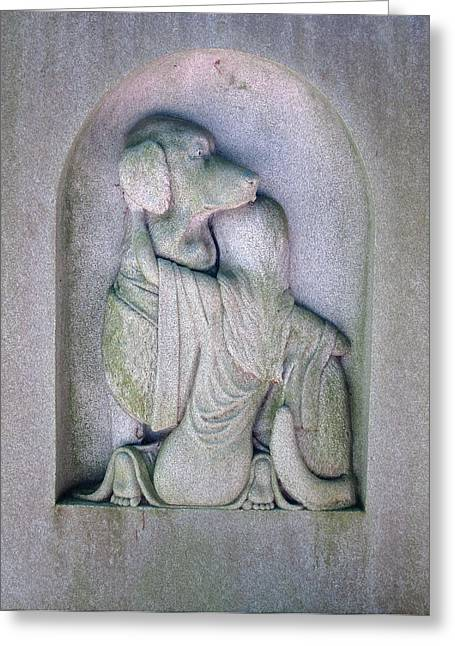 Headstone Greeting Cards - Animal Lover Greeting Card by Pat Exum
