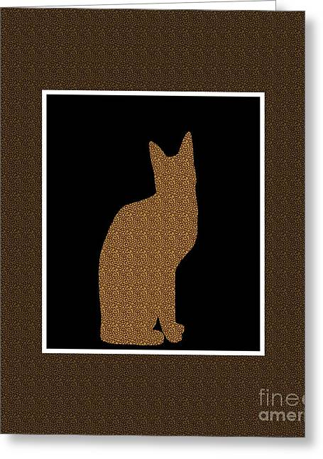 Print Tapestries - Textiles Greeting Cards - Animal Print Cat Duvet Greeting Card by Barbara Griffin