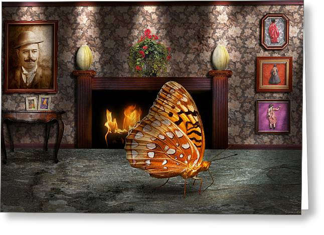 Animal - The Butterfly Greeting Card by Mike Savad