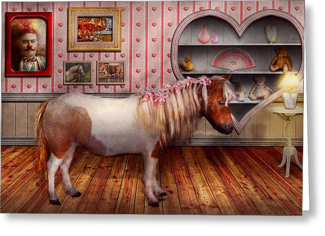 Animal - The Pony Greeting Card by Mike Savad