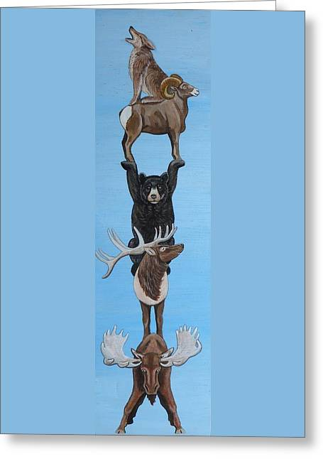 Animal Totem 2 Greeting Card by Lucy Deane