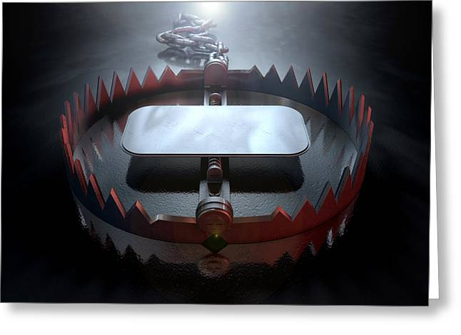 Animal Trap Dramatic Greeting Card by Allan Swart