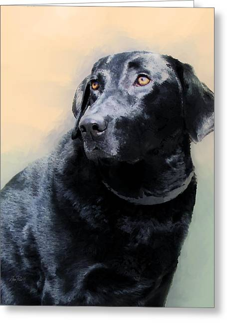 Annpowellart Greeting Cards - animals - dogs- Loyal Friend Greeting Card by Ann Powell