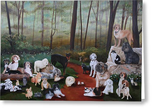 Cecilia Brendel Greeting Cards - Animals Living In Harmony Greeting Card by Cecilia  Brendel