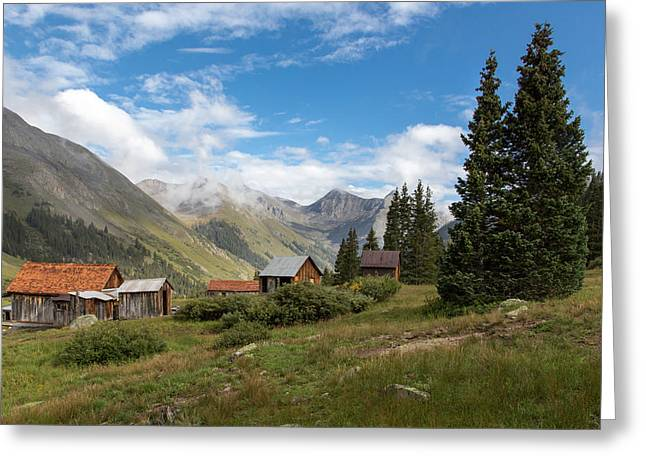 Old Cabins Greeting Cards - Animas Forks Greeting Card by Matthew Parks