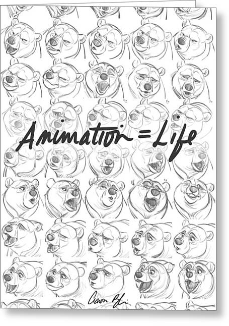 Animation  Life Greeting Card by Aaron Blaise