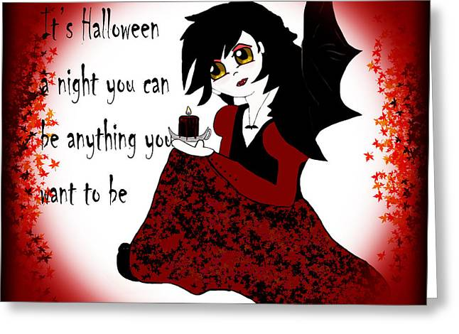 Whiteoaks Photography Greeting Cards - Anime Little Girl Vampire Greeting Card by Eva Thomas