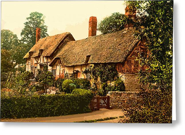 19th Century America Digital Greeting Cards - Ann Hathaways Cottage Stratford-on-Avon England  Greeting Card by Don Kuing
