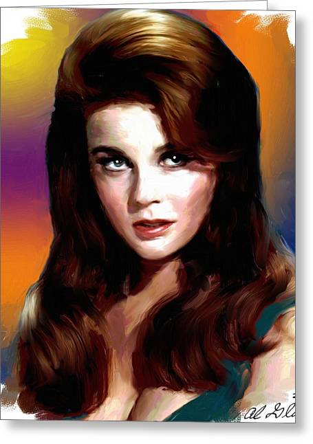 Allen Glass Greeting Cards - Ann Margret Greeting Card by Allen Glass