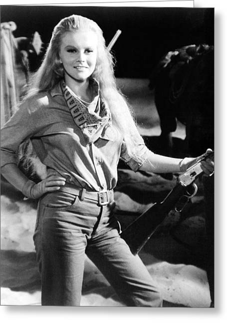 Robber Greeting Cards - Ann-Margret in The Train Robbers  Greeting Card by Silver Screen