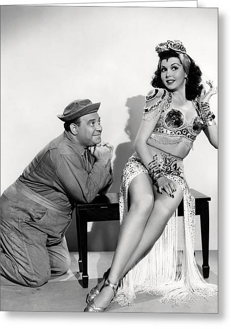 Ann Miller In Hey, Rookie  Greeting Card by Silver Screen