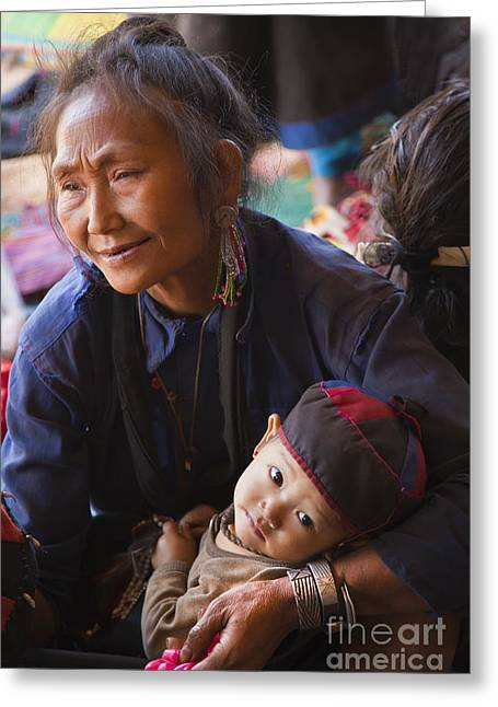 Craig Lovell Greeting Cards - Ann Tribal Grandmother - Kengtung Burma Greeting Card by Craig Lovell