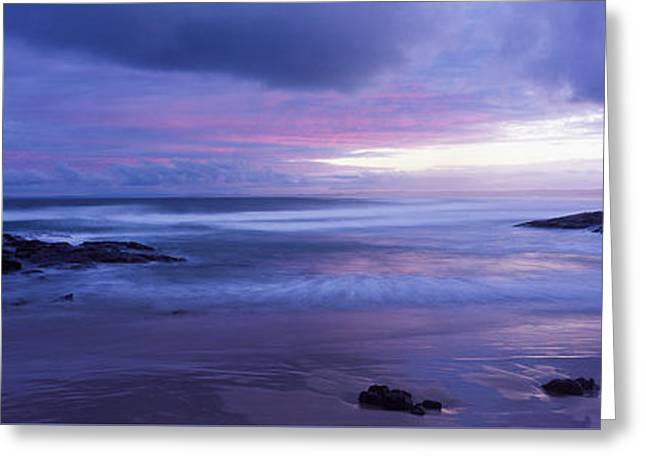 Stockton Greeting Cards - Anna Bay Sunset Greeting Card by Paul and Helen Woodford