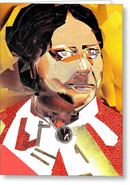 Abolitionist Mixed Media Greeting Cards - Anna Murray-Douglass Greeting Card by Paul Frederick Bush