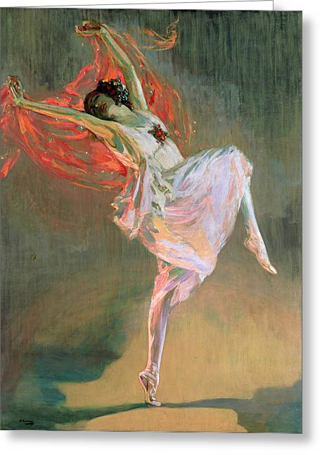 Ballet Dancer Greeting Cards - Anna Pavlova, 1910 Greeting Card by Sir John Lavery