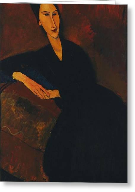 Modigliani Greeting Cards - Anna Zborowska Greeting Card by Amedeo Modigliani