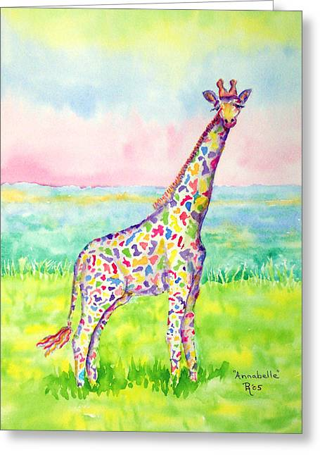 Color Glory Greeting Cards - Annabelle Greeting Card by Rhonda Leonard