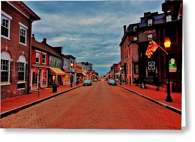 Annapolis Maryland Greeting Cards - Annapolis Greeting Card by Benjamin Yeager