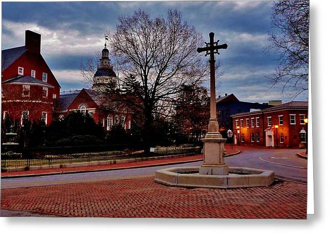 Annapolis Maryland Greeting Cards - Annapolis Dawning Greeting Card by Benjamin Yeager