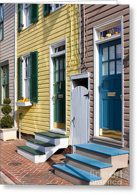 Recently Sold -  - Residential Structure Greeting Cards - Annapolis Historic Homes I Greeting Card by Clarence Holmes