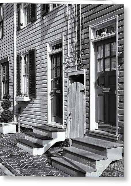 Historic Home Greeting Cards - Annapolis Historic Homes II Greeting Card by Clarence Holmes