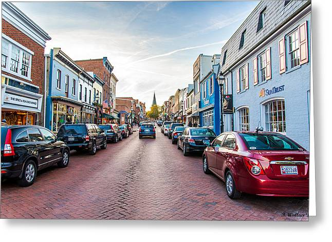 The Church Greeting Cards - Annapolis Street Greeting Card by Brian Wallace