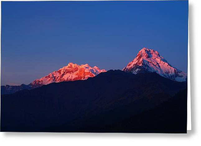 Sky High Greeting Cards - Annapurna South Massif Greeting Card by FireFlux Studios