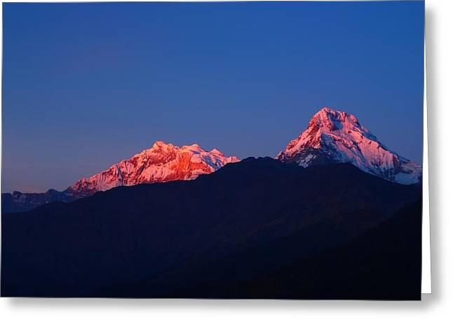 Annapurna South Massif Greeting Card by FireFlux Studios
