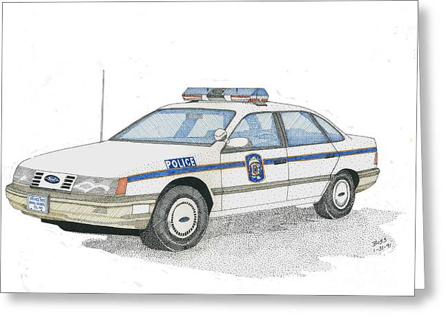 Anne Arundel County Police Greeting Card by Calvert Koerber