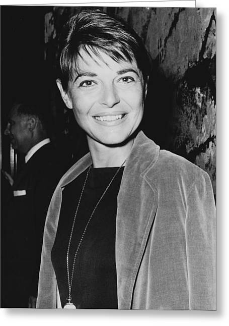 Vip Greeting Cards - Anne Bancroft at a premier of  The Manchurian Candidate in 1962 Greeting Card by Mountain Dreams