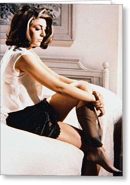 1960 Movies Greeting Cards - Anne Bancroft in The Graduate Greeting Card by Silver Screen