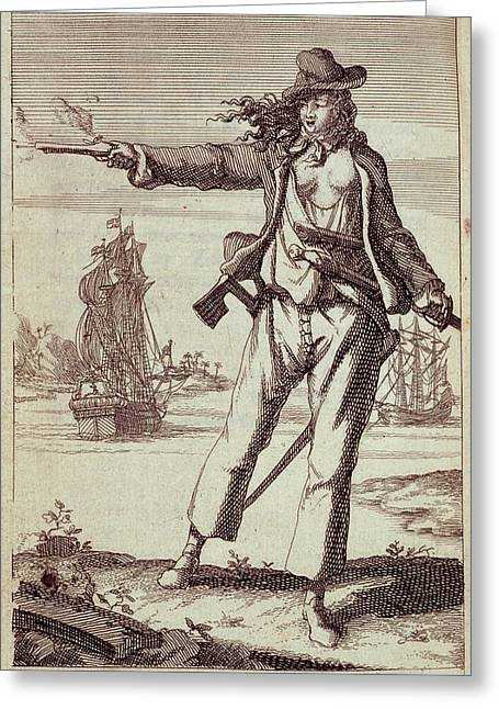 Anne Bonny Greeting Card by British Library