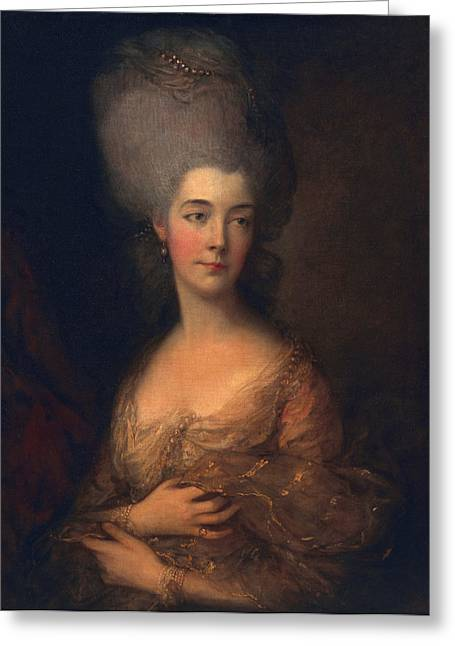 Royalty Greeting Cards - Anne, Duchess Of Cumberland, C.1777 Greeting Card by Thomas Gainsborough
