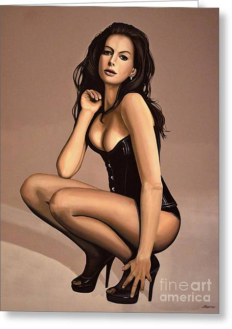 Sexy Greeting Cards - Anne Hathaway Greeting Card by Paul  Meijering