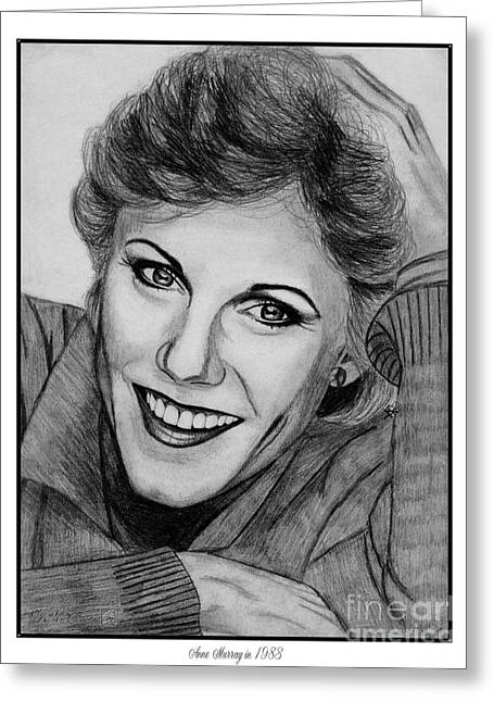 Fame Drawings Greeting Cards - Anne Murray in 1983 Greeting Card by J McCombie