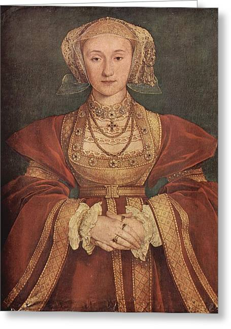 Cleves Greeting Cards - Anne of Cleves Greeting Card by Hans Holbein the Younger