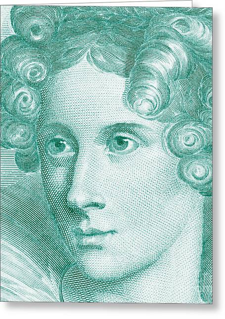 Beauty Mark Greeting Cards - Annette von Droste-Hulshoff Greeting Card by Grigorios Moraitis