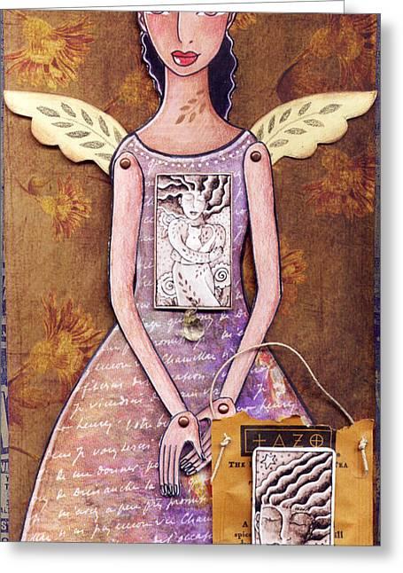 Annie Greeting Card by Elaine Jackson