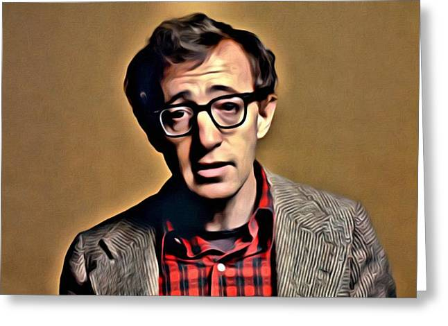 Woody Allen Greeting Cards - Annie Hall Greeting Card by Florian Rodarte