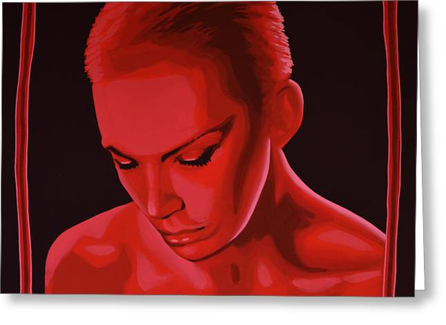 The West Greeting Cards - Annie Lennox Greeting Card by Paul  Meijering