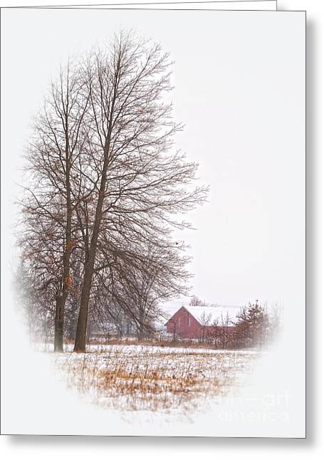 Annie's Barn Greeting Card by Pamela Baker