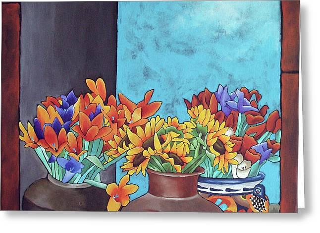 Annie's Flowers Greeting Card by Yvonne Gillengerten