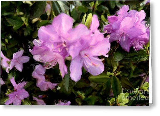 Stamen Digital Art Greeting Cards - Announcing Spring Greeting Card by Luther   Fine Art