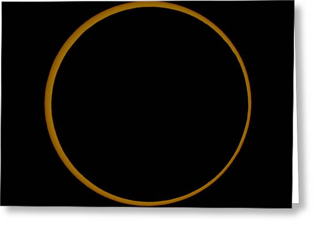 3 October Greeting Cards - Annular Solar Eclipse Greeting Card by Babak Tafreshi