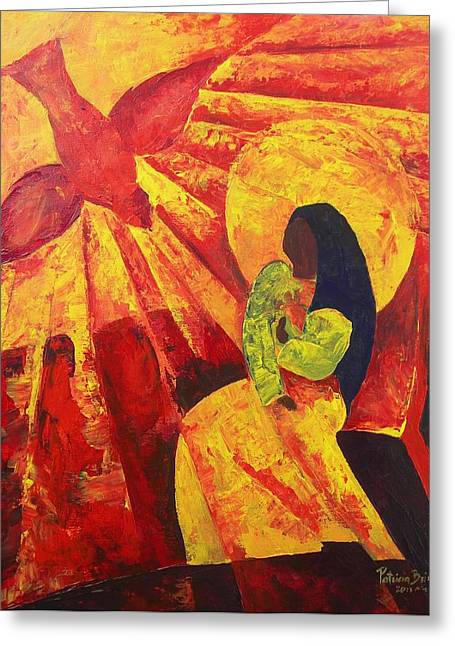 Christ Child Greeting Cards - Annunciation Greeting Card by Patricia Brintle