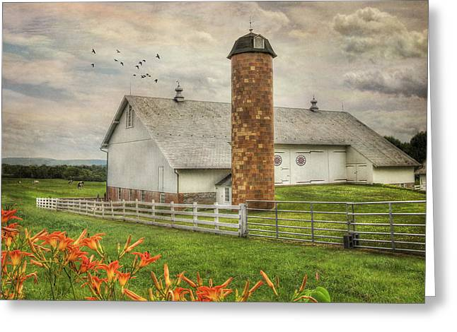 Barn Digital Greeting Cards - Annville Countryside Greeting Card by Lori Deiter