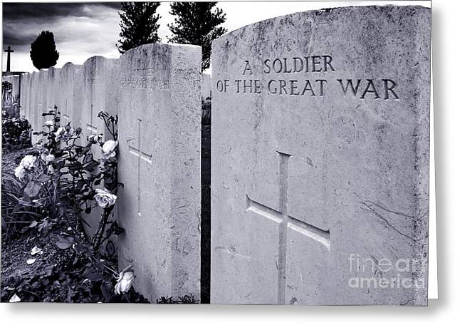 Ypres Greeting Cards - Anonymous Death Greeting Card by Colin Woods