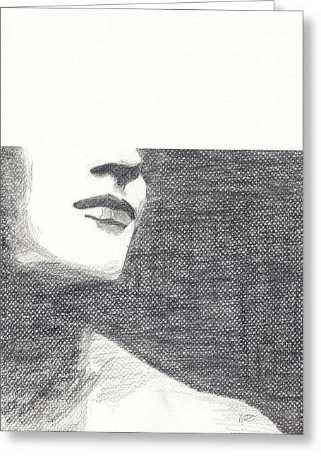 Anonymous Drawings Greeting Cards - Anonymous Greeting Card by Michele Engling
