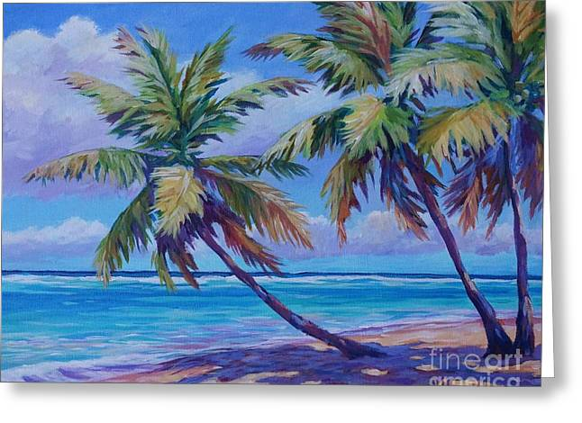 Palm Beach Greeting Cards - Another Beautiful Day 20x16 Greeting Card by John Clark